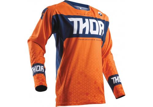 Motokros majica Thor Fuse Bion oranžna
